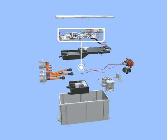 北汽ev160高压配电VR3D教学软件