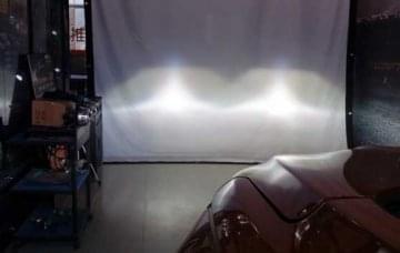 透明汽车模型教学:宝骏大灯测试