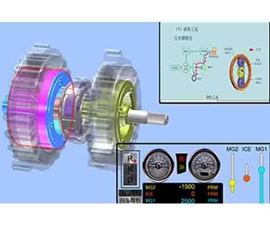 新能源汽车虚拟仿真互动系统