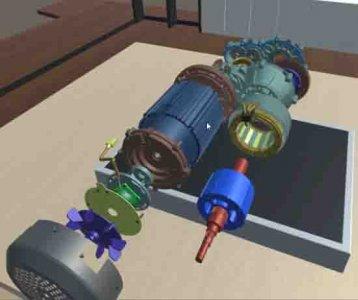 新能源汽车虚拟仿真教学软件:电机仿真