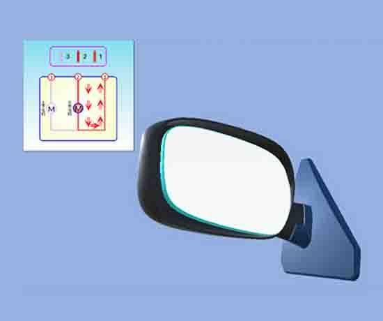 电动汽车后视镜虚拟仿真教学软件