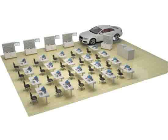 比亚迪E5整车剖视一体化模块