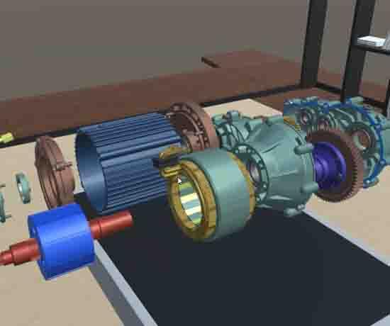 新能源汽车直流有刷电机VR3D教学软件