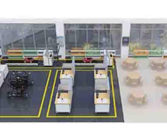 智能网联装调测试实训室