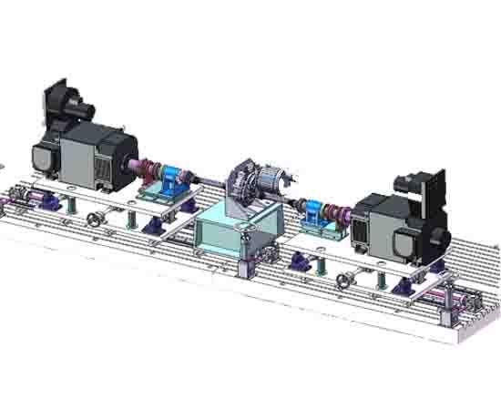 五轴电驱测试台架